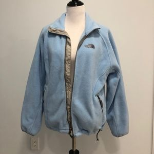 Baby Blue North Face Zip-up